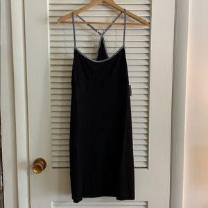 GapBody razor back dress black, NWT large